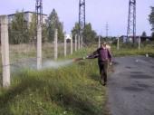 Postřik kolem plotů