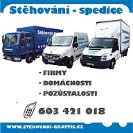 Stěhování GRATTIS, Stěhování domácností, kanceláří i celých firem. Služby při balení věcí před stěhováním. Rozvoz zboží, spediční služby.